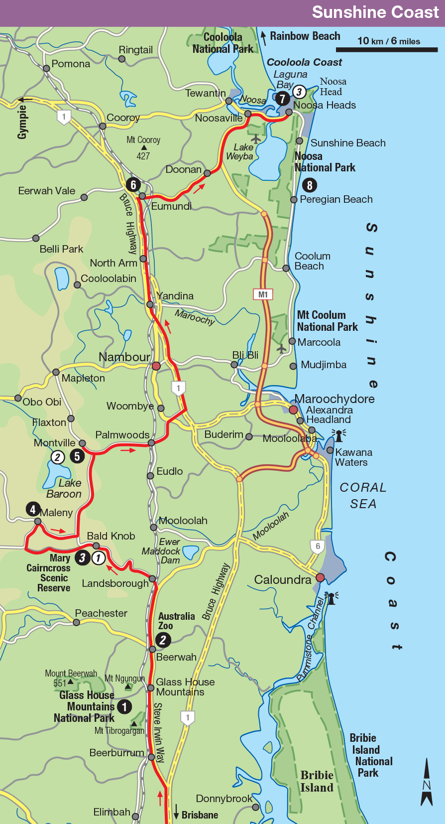 Sunshine Coast Hinterland Map
